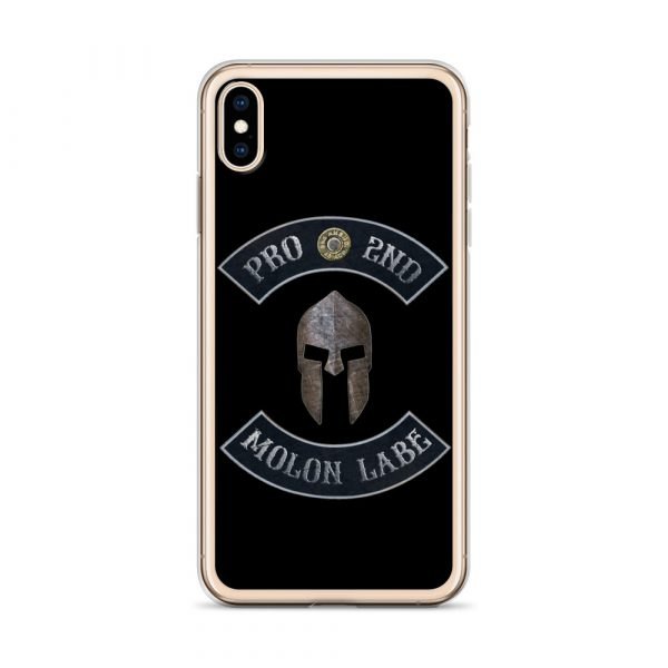 Pro 2nd Amendment - Molon Labe - Spartan Helmet iPhone 10 Case