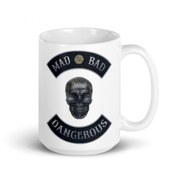 Mad Bad and Dangerous Rockers with Skull 15oz Mug side