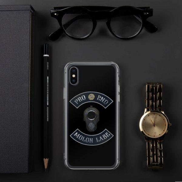 Pro 2nd Amendment - Molon Labe - M1911 iPhone X Case