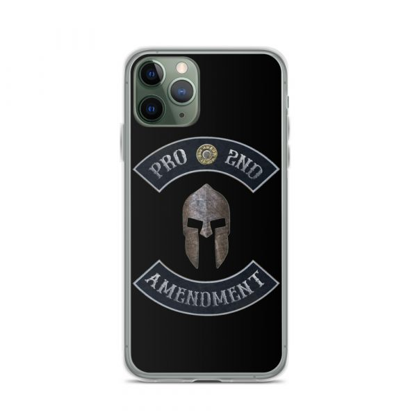 Pro 2nd Amendment with Spartan Helmet iPhone 11 Pro Case