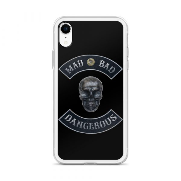 Mad Bad Dangerous Rocker with Skull iPhone XR case