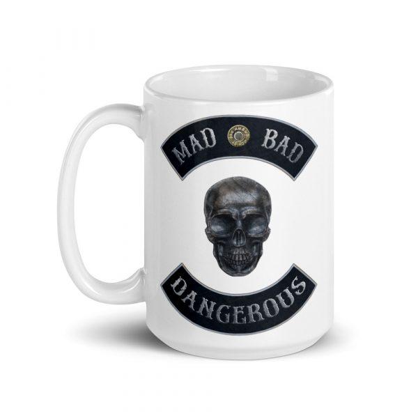 Mad, Bad and Dangerous Rockers with Skull 15oz Mug