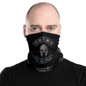Spartan Helmet Molon Labe double 45ACP Black Neck Gaiter