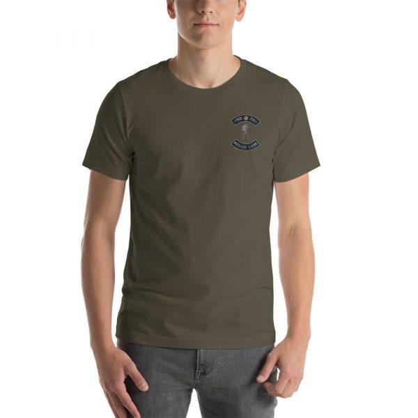 Army Pro 2nd Amendment Molon Labe with Spartan Helmet Short-Sleeve Unisex T-Shirt