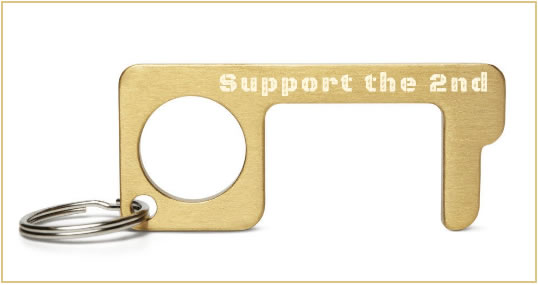 Engraved Brass No Touch Tool – Support the 2nd