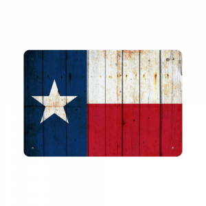Distressed Texas Flag Metal Wall Sign - Made in the USA Print on Metal