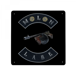 Molon Labe with Tommy Gun and Double 45ACP Case Heads Wall Plaque - Made in USA Print on Metal