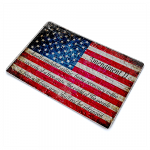 American Flag and 2nd Amendment Print on Metal Sheet Made in the USA