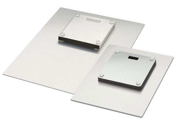 back of our wall mounted metal plates