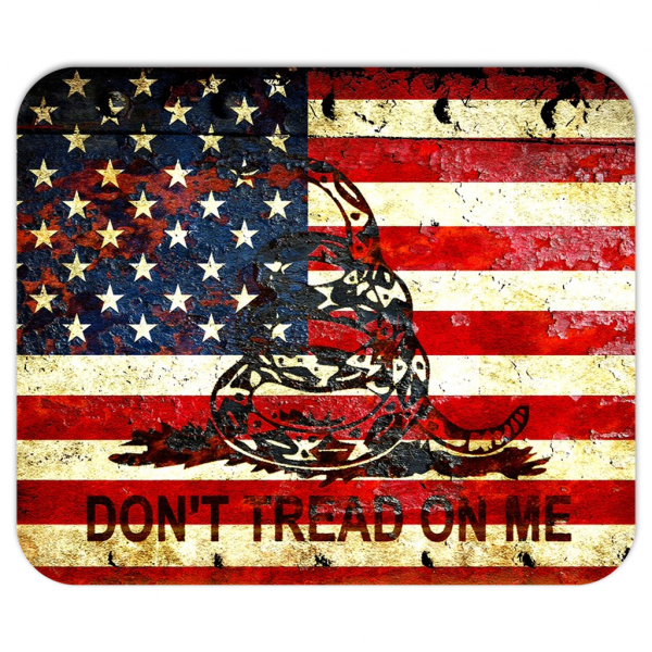 Don't Tread On Me - American and Gadsden Flags Composition Mouse Pad