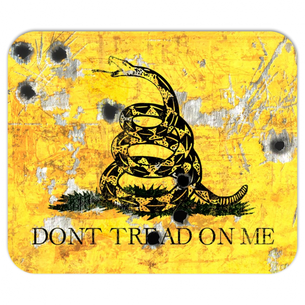 Don't Tread On Me - Gadsden Flags With Bullet Holes Mouse Pad
