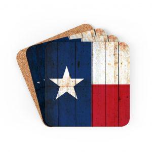 Texas Themed Barware And Drinkware - Texas Flag Coasters - Set Of 4